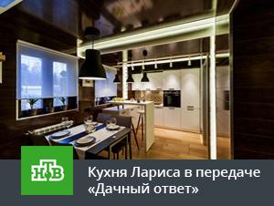 Кухня Лариса в белом цвете в передаче Дачный ответ